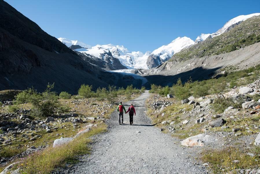 Bernina Glaciers Morteratsch Glacier Trail